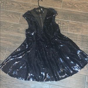NWOT Black sequin dress